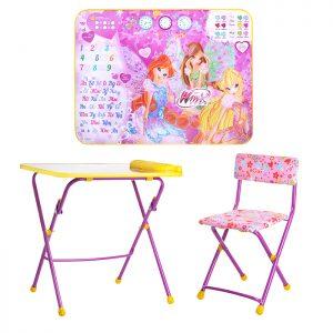 Комплект Винкс 3 (стол+пенал+стул мягк.)