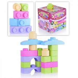 Мягкий конструктор для малышей (18 деталей. Пастель)