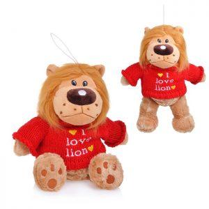 Мягкая игрушка Лев в свитере 21 см