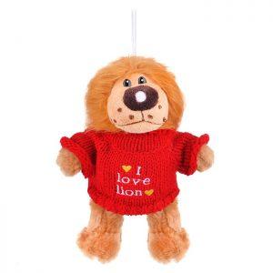Мягкая игрушка Лев в свитере 18 см