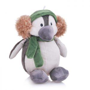 Мягкая игрушка Пингвин с наушниками 20 см