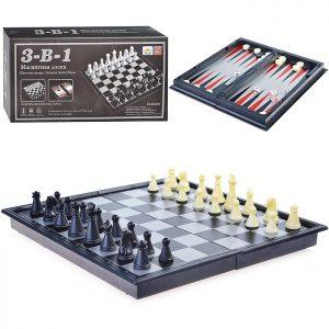 Шахматы 54810QX (3в1) в коробке