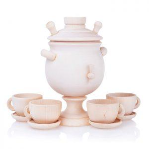 Чайный сервиз с самоваром