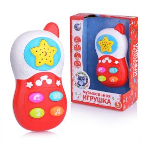 Телефон 60081 Е-Нотка на батарейках, в коробке