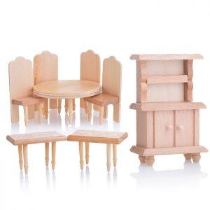 Набор мебели D0293-4 для кукол, на листе