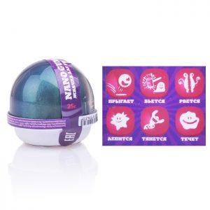 Жвачка для рук Nano gum,  эффект голографии и аромат грейпфрута, 25 гр.