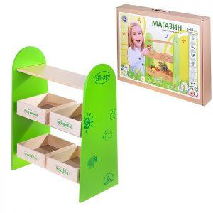 Мебель кукольная Магазин (деревянная)
