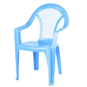Кресло Плетёнка синее
