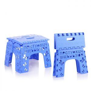 Табурет складной детский Алфавит(синий)
