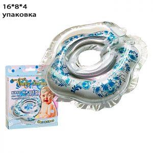 Круг голубой Гжель (полуцвет), для купания новорожденных
