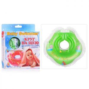 Круг салатовый (полуцвет.+внутри погремушка), для купания новорожденных