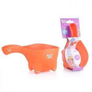 Ковшик для мытья головы DINO SCOOP. Оранжевый