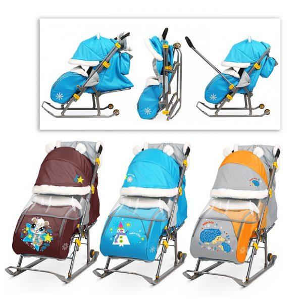 Санки-коляска Ника детям 6 (цвет в ассортименте)