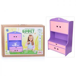 Мебель кукольная Буфет (деревянная)