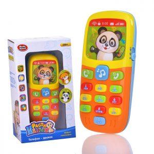 Телефон сотовый 7388 Расти малыш на батарейках, в коробке