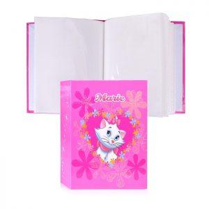 Фотоальбом 100ф 10X15см, ПП карм., w/d:marie, DISNEYWORL/PIONEER, розовый-цветы