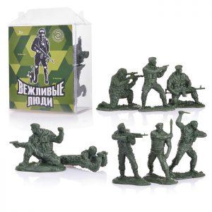 Солдаты Вежливые люди (8 шт. в малом прозрачном боксе)