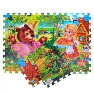 Коврик-пазл Машенька и Медведь  (8 сегментов)