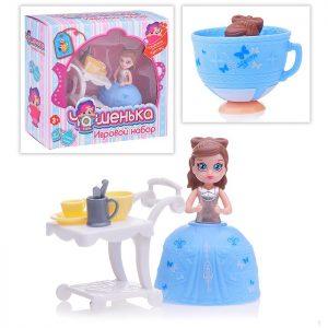 1toy Игр.наб.кукла Чашенька 10 см с юбочкой,трансформ.в чашку,аксес. для чаепития,36  видов