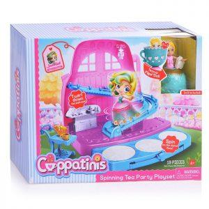 Игр.наб.кукла Cuppatinis 10 см. с юбочкой, трансформирующейся в чайную чашку и конструкция в виде сп