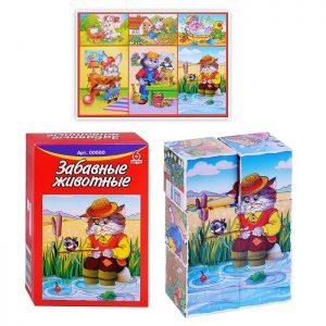 Кубики Забавные животные (6 шт.)