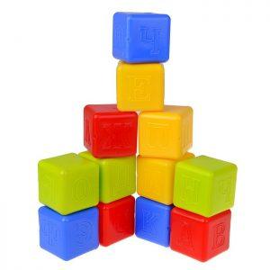 Набор кубиков Малыш с азбукой и цифрами
