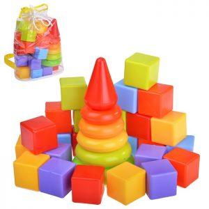 Радуга Набор: пирамида, кубики