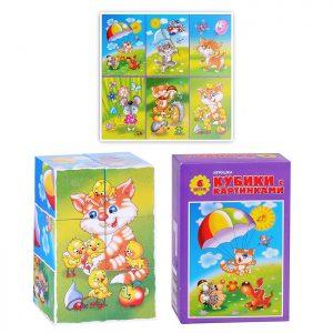 Кубики с картинками «Солнышко-2»  (6  шт)
