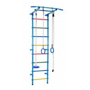 ДСК Start 1 Плюс (канат, кольца, тарзанка) голубой радуга