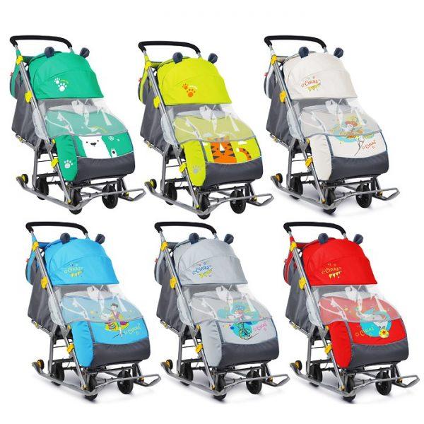 Санки-коляска Ника детям 7 (цвет в ассортименте)