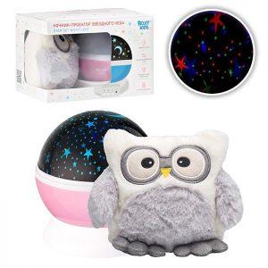 Ночник-проектор звездного неба с игрушкой Little Owl.