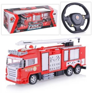 Машина 666-656A Пожарная служба р/у, с заряд. устр., на аккум., в коробке