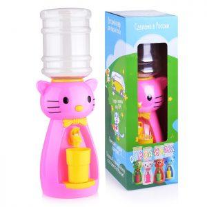 Кулер детский для воды Кошка розовая с желтым