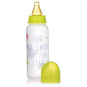 Бутылочка для кормления с латексной соской 250 мл.