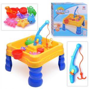 Стол для игр с песком и водой Hualian Toys Весёлая рыбалка (40х40х43,5 см, крышка, 14 предм.)