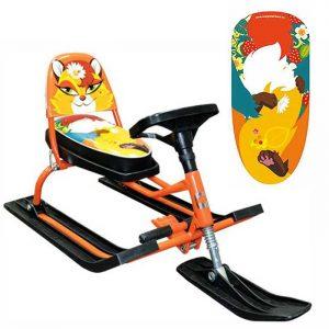 Игрушка спортивная транспортная из металла «SNOWKAT» 116 Comfort Animals со складной спинкой (Лиса