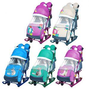 Санки-коляска Ника детям 7-2 (цвет в ассортименте)