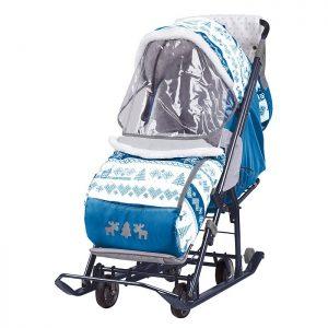 Санки-коляска Нашидетки скандинавский синий