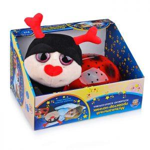 Мягкая игрушка (Проектор-ночник) Божья коровка, 7 колыбельных