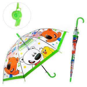 Зонт прозрачный Ми-Ми-Мишки 50см, со свистком