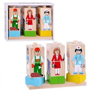 Кубики на палочке Профессии