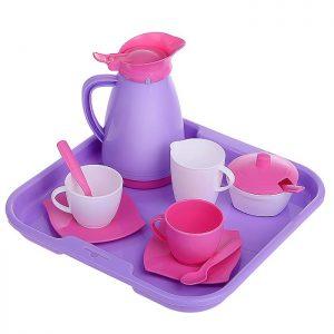 Набор детской посуды Алиса с подносом на 2 персоны (Pretty Pink)