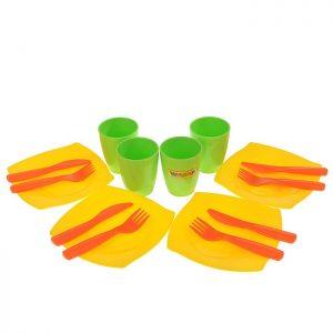Набор детской посуды столовый на 4 персоны