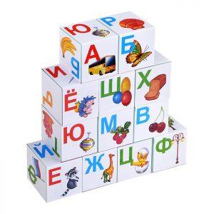 Кубики обучающие Азбука в картинках