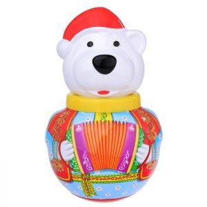 Неваляшка малая Белый медведь Борис в п/пакете