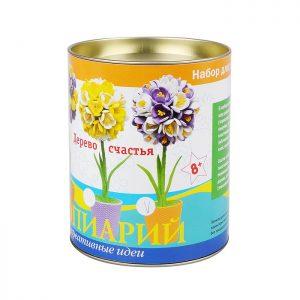 Набор для творчества топиарий Крокусы фиолетовые/белые