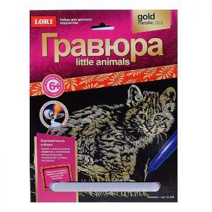 Гравюра Little ANIMALS Рысенок