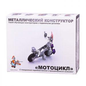 Конструктор мет.с подвижными деталями Мотоцикл