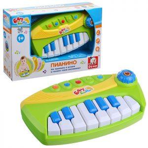 Пианино 80083EG/R/1076 (свет,звук), в коробке