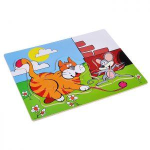 Рамка-пазл Кот и мышонок